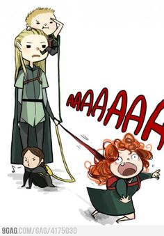 Year of the Bow!  Poor Legolas, having to deal with Hawkeye, Katniss, and Merida