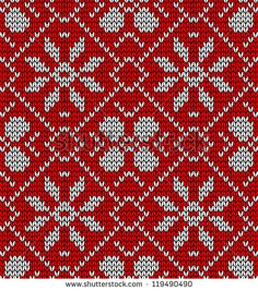 Vintage Xmas embroidery seamless pattern. Vector illustration layered for easy manipulation and custom coloring.