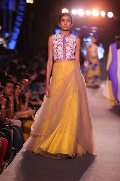 The Blue Fashion Runway Collection by Manish Malhotra at Lakme Fashion Week Summer Resort 2015. #JabongLFW