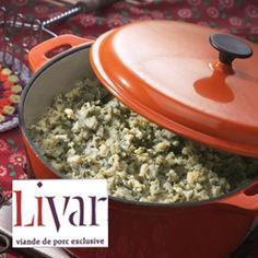 Andijviestamppot met Livar spek: Stamppot van aardappelen, andijvie en op houtkrullen gerookt Livar spek.