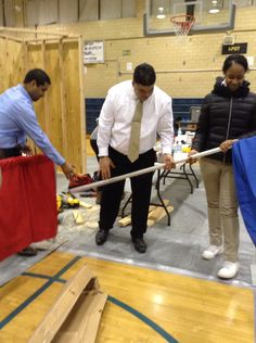 Principal Ojeda, of Thomas Edison High School, helps to prepare for NYC SkillsUSA city competitions along with AP Mr. Alvarez