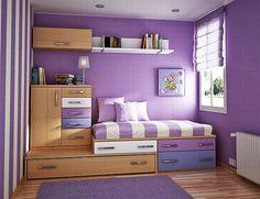 Lovely colour girls bedroom easy for sleep overs