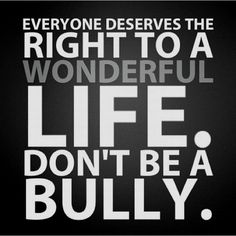 Don't be a bully.