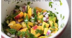 do it yourself divas: DIY: Fresh Mango and Peach Salsa