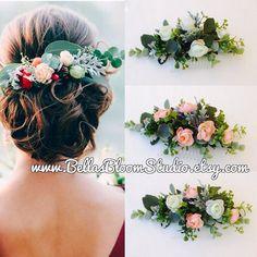 Bridal Headpiece Succulent Hair Comb Bridal by BellasBloomStudio