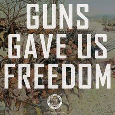 Teach this in schools again. Guns gave us freedom.... who, what, when and where?  We gained our independence. Mexico is running, why?  Muslim militants are wanting us dead, are teaching their children in school to kill us and we're worried about being politically correct? Seriously?