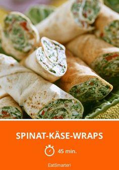 Spinat-Käse-Wraps - smarter - Zeit: 45 Min. | eatsmarter.de