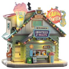 SKU# Released in 2019 as a Porcelain Lighted Building for the Vail Village Collection. Lemax Christmas, Christmas Village Houses, Christmas Village Display, Christmas Events, Christmas Party Games, Christmas Villages, Christmas Tree, Vail Village, Lemax Village