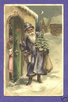 Santa in Blue