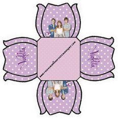 Violetta: Cajas para imprimir gratis.