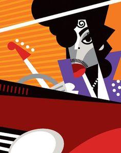 """""""Prince"""" by Pablo Lobato. [Graphic Design Illustration]:"""