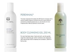 We have a customer with VERY bad psoriasis on his arms legs and torso he's suffered with it for 18 years. We tried 2 Nu Skin products on him Perennial and Baobab Body Butter. Both have worked very well but Perennial is the clear winner with outstanding results - the best he's ever had from any product and he's tried many! He's also now using Body Cleansing Gel as it's soap free and that's important for anyone with psoriasis. SO RECOMMEND PERENNIAL (key ingredient - IBR-Dormin a natural…