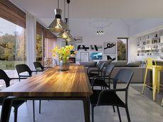DOM.PL™ - Projekt domu DZW Odważny 2 CE - DOM DW1-90 - gotowy koszt budowy Conference Room, Dining Table, Dom, Samara, House, Furniture, Home Decor, Projects, Log Projects
