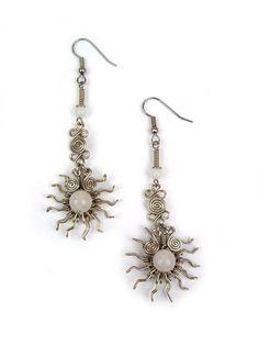 "Wire Wrapped Earring ""Pinwheel"" – Wari Designs"
