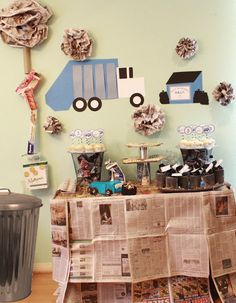 Juneberry Lane: A Garbage Truck 'Trash Bash' Birthday Party...GROSS!!