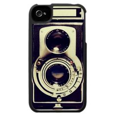 Vintage Câmara Capa Iphone 4