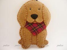 Dog Felt Christmas Ornament  Felt Dog Ornament  by ynelcas on Etsy