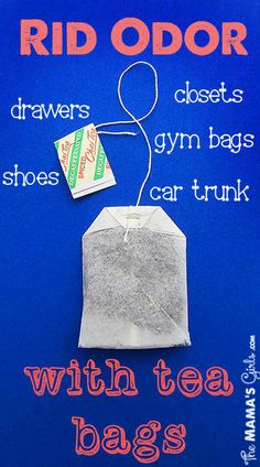 DIY How To Get Rid Of Odor With Tea Bags