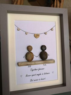 Together Forever Never Apart, Romantic Dinner Setting, Art Love Couple, Pebble Art Family, Picture Boxes, Pebble Pictures, Sea Crafts, Stone Crafts, Sea Glass Art