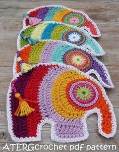 Crochet pdf pattern ELEPHANT by ATERGcrochet by ATERGcrochet #crochet