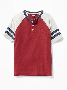 Old Navy Raglan Pocket Henley for Boys Shop Old Navy, What To Wear, Boys, Sleeves, Mens Tops, Firecracker, Family Photography, Pocket, Fall