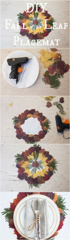 How to make the perfect fall leaf place setting.