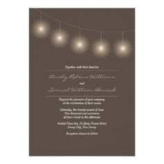 See MoreElegant Lights Brown Neutral Wedding Invitationin each seller & make purchase online for cheap. Choose the best price and best promotion as you thing Secure Checkout you can trust Buy best Wedding Invitation Wording, Proposal, Orchids, Neutral, Lights, Bridal, Elegant, Brown, Party