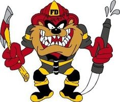 Firefighter Tasmanian Devil Color Sticker Firefighter Decals, Firefighter Paramedic, Firefighter Quotes, Volunteer Firefighter, Firefighter Tattoos, Firefighter Pictures, Tasmanian Devil Cartoon, Fire Tattoo, Tattoo Ink
