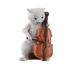 DECOLE Chat Noir Gray Cat Cello Orchestra Music Mini Figure Figurine Cute Japan #CHATNOIR