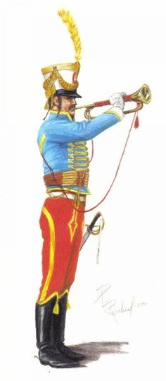 French 5th Hussars trumpeter