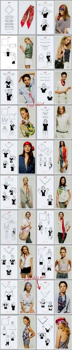 Hermes scarf (19 ways)