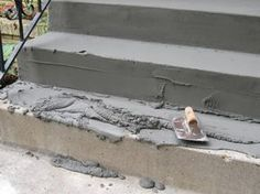 How to fix concrete steps