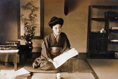 "wiki: ""Sada Yaccoor Kawakami Sadayakko (July 18, 1871 - December 7, 1946)was a Japanesegeisha,actressand dancer"". This photo was likely taken about 1900 in Japan."
