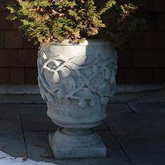 Concrete Classics - Fruit on a vine planter, high Large Concrete Planters, Chess Table, New York Style, Vines, Planter Pots, Fruit, Park, Classic, Garden