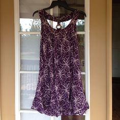 Boho Purple Sundress Great, wooden ring accent Poetry Dresses
