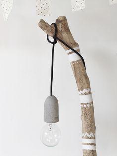 DIY beton lamp