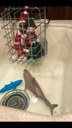 Elf on shelf dive team sharks