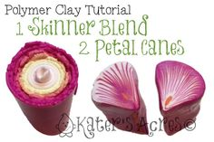 Polymer Clay Tutorial: 1 Skinner Blend, 2 Petal Canes by KatersAcres