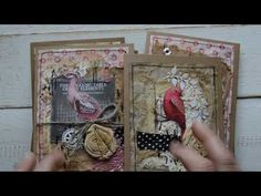 Grungy style pink bird cards.( ALL sold, thank you ) - YouTube