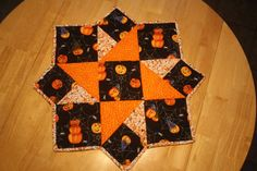 Halloween Quilted Table Topper by DenisesQuiltShop on Etsy, $45.00