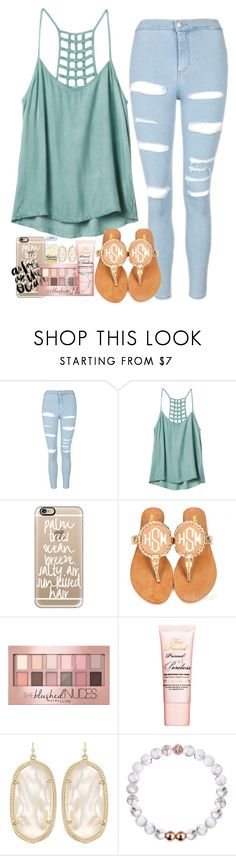 """""""Nothing can dim the light that shines from within"""" by labures ❤ liked on Polyvore featuring Topshop, RVCA, Casetify, Maybelline, Too Faced Cosmetics and Kendra Scott"""