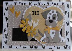Scrapcard girls: HI. Dog Cards, Baby Cards, Kids Cards, Marianne Design Cards, Rena, Online Pet Supplies, Puppy Care, Animal Cards, Cat Design
