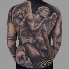 Full Back Tattoos for Females . 40 Full Back Tattoos for Females . 120 Full Back Tattoos for Men Masculine Ink Designs Angel Back Tattoo, Guardian Angel Tattoo, Back Piece Tattoo, Pieces Tattoo, Angel Tattoo Men, Cool Back Tattoos, Back Tattoos For Guys, Back Tattoo Women, Tattoos For Women