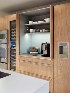 Hidden Toaster Adn Coffee Machine Design Ideas, Pictures, Remodel and Decor