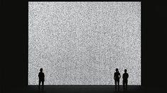Ryoji Ikeda / data.tron [3 SXGA+ version], 2009