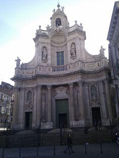 """La Collegiata """"up"""" in Catania, Sicilia"""