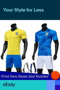 5708e02aa 18-19 NEYMAR JR Football Kits Soccer Short Sleeve Jersey 3-14Yrs Socks Kids