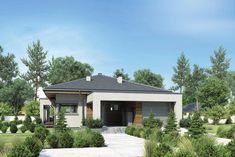 DOM.PL™ - Projekt domu Mój dom Przemuś CE - DOM BR1-26 - gotowy koszt budowy Gazebo, Pergola, New Homes, Outdoor Structures, Outdoor Decor, Studio, House, Home Decor, Homemade Home Decor