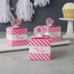 Baby Shower Favors - Little Peanut Pink Elephant #babyshower #babygirl #showerfavors #babyshowerfavors #elephant