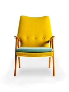 mint and yellow armchair